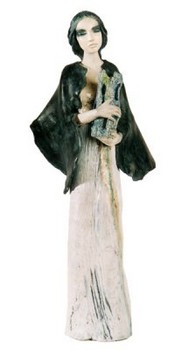 heilige-barbara-skulptur-keramik-grün