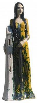 st-barbara-statue-keramik-gelb-grün-farben