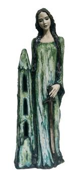 heilige-barbara-keramik-statue-mit-schwert-malachit-stil