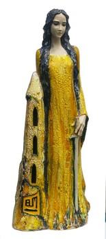 heilige-barbara-statue-aus-keramik-gelbe-glasur